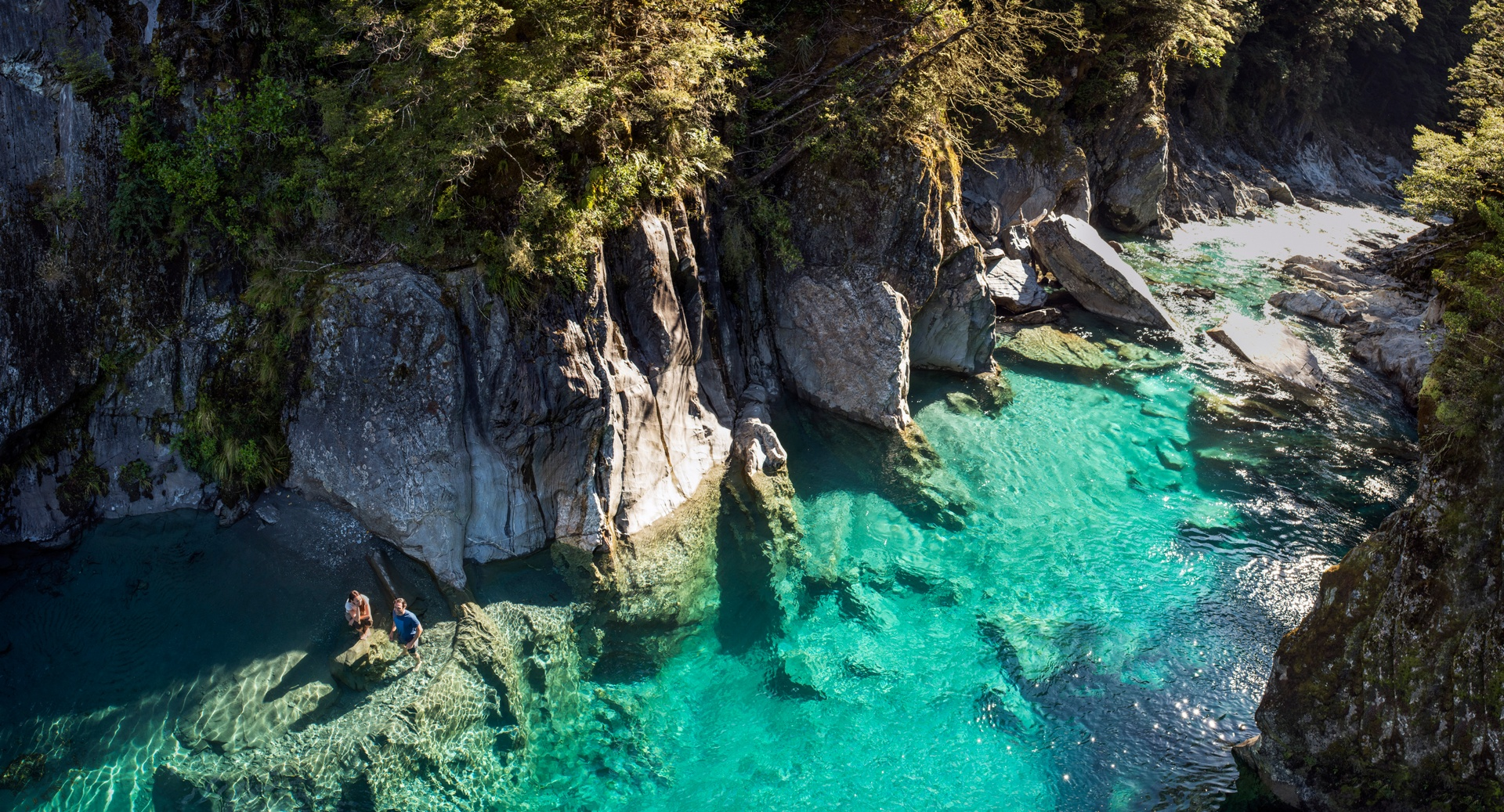 Haast Blue Pools, West Cost New Zealand
