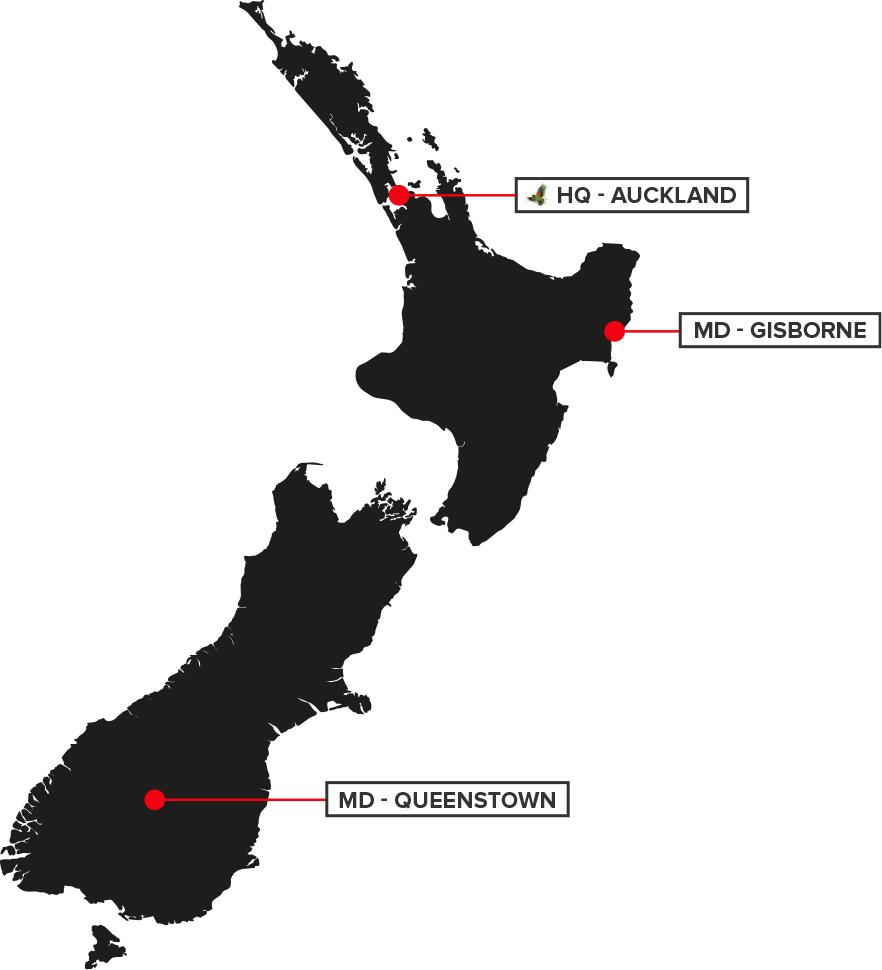Maverick Digital locations in NZ