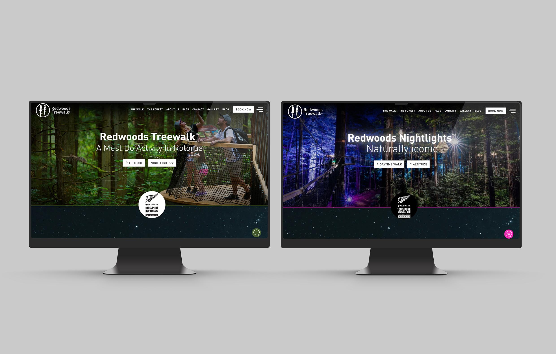 Redwoods Treewalk - Website Development