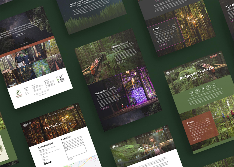 Redwoods Treewalk - Website Development - Maverick Digital